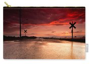 Railroad Sunset Carry-all Pouch by Cale Best