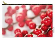 Red Christmas Berries Carry-all Pouch