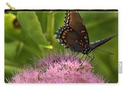 Red Spotted Purple Butterfly On Sedum Carry-all Pouch
