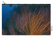 Red Whip Fan Coral With Diver, Papua Carry-all Pouch