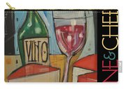 Red Wine And Cheese Poster Carry-all Pouch
