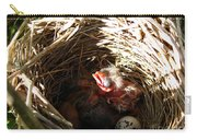Red-winged Blackbird Babies And Egg Carry-all Pouch