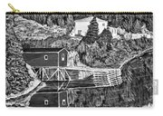 Reflections B W Carry-all Pouch by Barbara Griffin