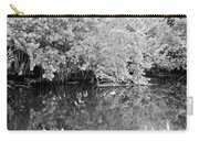 Reflections On The North Fork River In Black And White Carry-all Pouch