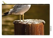 Ring-billed Gull On Pillar Carry-all Pouch