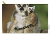 Ring-tailed Lemur Mother And Baby Carry-all Pouch