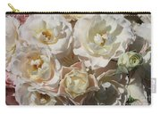 Romantic White Roses Carry-all Pouch