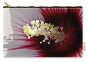 Ruby And White Hibiscus Carry-all Pouch