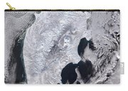 Satellite View Of Kamchatka Peninsula Carry-all Pouch
