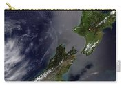 Satellite View Of New Zealand Carry-all Pouch by Stocktrek Images