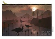 Sauropod And Duckbill Dinosaurs Feed Carry-all Pouch