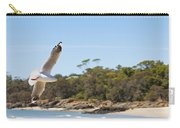 Seagull Spreads Its Wings On The Beach Carry-all Pouch