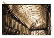 Sepia Toned Image Of Leadenhall Market London Carry-all Pouch