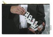 Shuffling Cards Carry-all Pouch