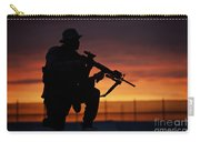 Silhouette Of A U.s Marine On A Bunker Carry-all Pouch