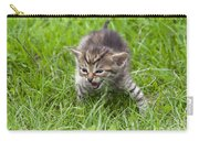 Small Kitten In The Grass Carry-all Pouch