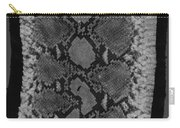 Snake Skin In Black And White Carry-all Pouch