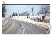 Snow By The Roadside Carry-all Pouch by Ted Kinsman