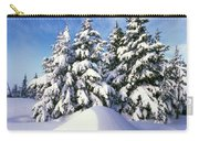 Snow-covered Pine Trees Carry-all Pouch