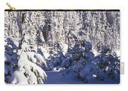 Snow-covered Pine Trees On Mount Hood Carry-all Pouch