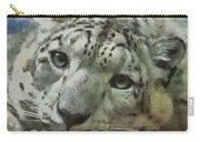Snow Leopard Painterly Carry-all Pouch