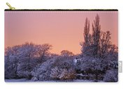 Snow Scene At Sunrise Carry-all Pouch