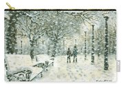 Snowing In The Park Carry-all Pouch