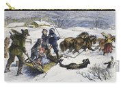 Snowstorm In The Country Carry-all Pouch