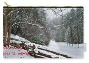 Snowy Fence Carry-all Pouch