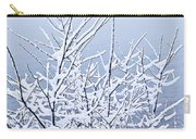 Snowy Trees Carry-all Pouch by Elena Elisseeva