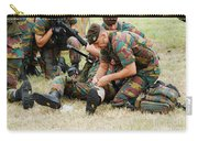 Soldiers Of A Belgian Infantry Unit Carry-all Pouch