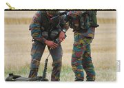 Soldiers Of The Belgian Army Carry-all Pouch