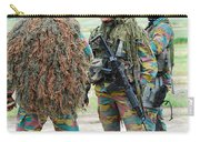 Soldiers Of The Special Forces Group Carry-all Pouch by Luc De Jaeger