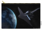 Space Shuttle Backdropped Against Earth Carry-all Pouch