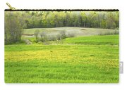 Spring Farm Landscape With Dandelion Bloom In Maine Carry-all Pouch by Keith Webber Jr