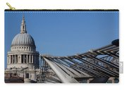 St Pauls Cathedral And The Millenium Bridge  Carry-all Pouch