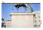 Statue Of King Charles IIi In Madrid Carry-all Pouch