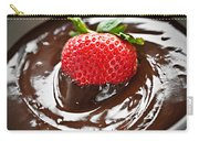 Strawberry Dipped In Chocolate Carry-all Pouch by Elena Elisseeva