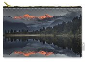 Sunset Reflection Of Lake Matheson Carry-all Pouch by Colin Monteath