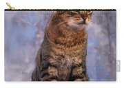 Tabby Cat Portrait Of A Cat Carry-all Pouch