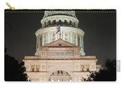 Texas Capitol Building At Night - Vert Carry-all Pouch