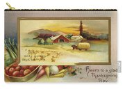 Thanksgiving Card, C1910 Carry-all Pouch