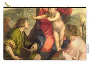 The Virgin And Child With A Saint And An Angel Carry-all Pouch by Andrea del Sarto