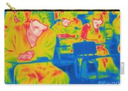 Thermogram Of Students In A Lecture Carry-all Pouch
