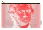 Thomas Jefferson In Negative Red Carry-all Pouch by Rob Hans