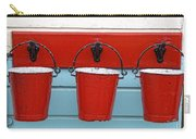 Three Red Buckets Carry-all Pouch