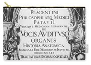 Title Page, Giulio Casserios Anatomy Carry-all Pouch
