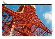 Tokyo Tower Face Cloudy Sky Carry-all Pouch by Ulrich Schade