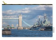 Tower Bridge And Hms Belfast Carry-all Pouch