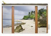 Tropical White Sand Beach Paradise Window Scenic View Carry-all Pouch